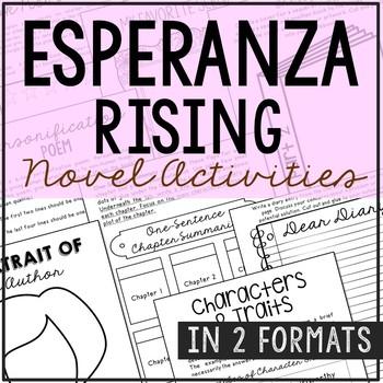 Esperanza Rising Interactive Notebook Novel Unit Study Activities, Book Report