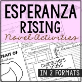 Esperanza Rising Interactive Notebook Novel Unit Study Activities, Book Report