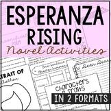 ESPERANZA RISING Novel Study Unit Activities, In 2 Formats
