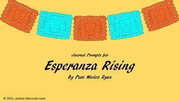 Esperanza Rising Journal Prompts