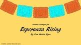 Esperanza Rising Journal Prompts