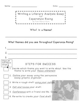 esperanza rising literary analysis essay project by sandra castiglia esperanza rising literary analysis essay project