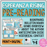 Esperanza Rising | Pre-Reading Introduction Activities