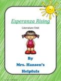 Esperanza Rising Literature Unit