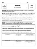 """Esperanza Rising """"Los Duraznos"""" Anticipation Guide"""