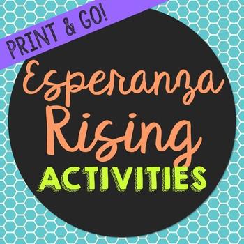Esperanza Rising Novel Unit Study Activities, Book Companion Worksheets, Project