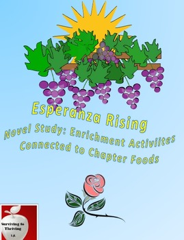 Esperanza Rising Novel Study: Enrichment Activities Connected to Chapter Foods
