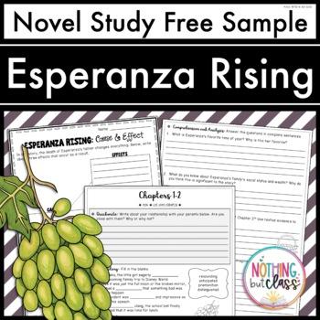 Esperanza Rising Novel Study FREE Sample