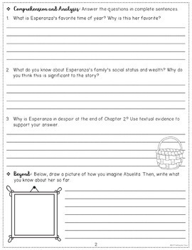 Esperanza Rising Novel Study Free Sample By Nothing But Class Tpt