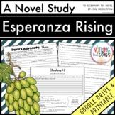 Esperanza Rising Novel Study Unit: comprehension, vocabulary, activities, tests