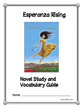 Esperanza Rising Novel Study and Vocabulary Guide