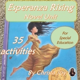 Esperanza Rising Novel Study for Special Education with comprehension questions