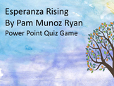 Esperanza Rising Power Point Quiz Game (Great for Smart Boards)