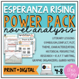 Esperanza Rising | Novel Analysis Activities | Power Pack