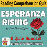 Esperanza Rising Quiz Bundle + Unit Test
