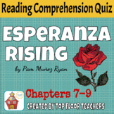 Esperanza Rising Quiz Chapters 7-9