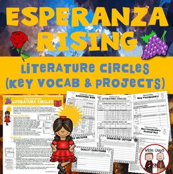 Esperanza Rising Reading Literature Circle Activity