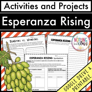 Esperanza Rising: Reading Response Activities and Projects