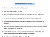 Esperanza Rising Review Chapters 1 - 4