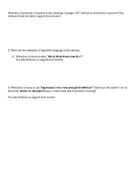 Esperanza Rising: Short Response Quiz on Chapter 9