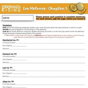 Esperanza Rising: Study Guide - Chapter 5 {Los Melones}