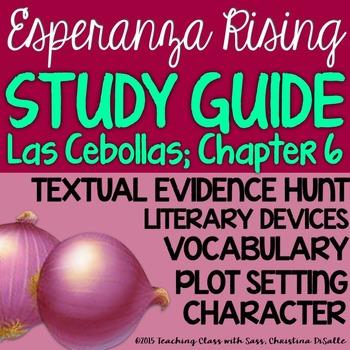 Esperanza Rising: Study Guide - Chapter 6 {Las Cebollas}