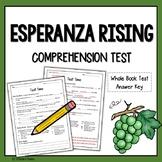Esperanza Rising Test Questions