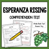 Esperanza Rising Test (Esperanza Rising Quiz)
