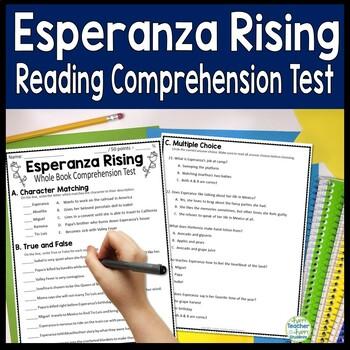 Esperanza Rising Test: Final Book Test with Answer Key