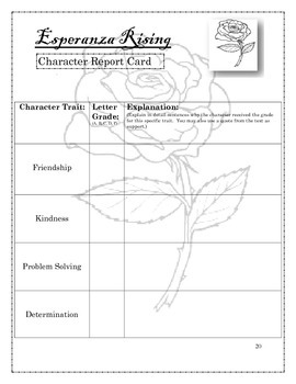 Esperanza rising novel unit student activities by room 4 engagement esperanza rising novel unit student activities ccuart Choice Image