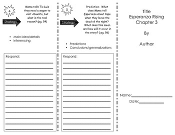 Esperanza Rising Trifold- Chapter 3