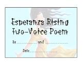 Esperanza Rising Two-Voice Poem Template