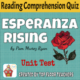 Esperanza Rising Unit Test