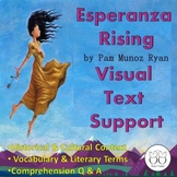 Distance Learning Esperanza Rising Novel Study Visual Text Support