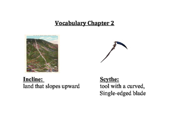 Esperanza Rising Vocabulary
