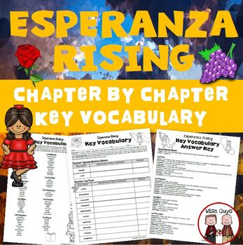 Esperanza Rising Vocabulary Activity