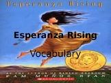Esperanza Rising Vocabulary PPT