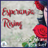 Esperanza Rising Vocabulary Packet