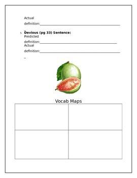 Esperanza Rising Vocabulary Packet, Classwork, Homework and Quizzes