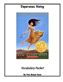Esperanza Rising Vocabulary Student Packet for each chapter