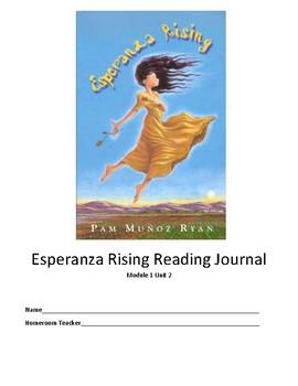Esperanza Rising Workbook (NYS ELA Module 1, Unit 2)