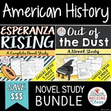 Esperanza Rising and Out of the Dust: American History Novel Study Unit Bundle