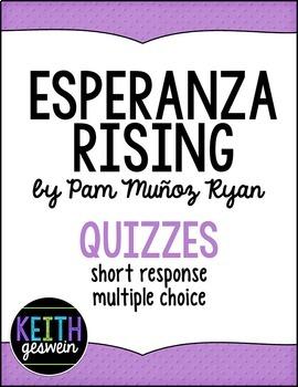 Esperanza Rising by Pam Munoz Ryan:  13 Quizzes