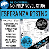 Esperanza Rising Novel Study - Distance Learning - Google Classroom compatible
