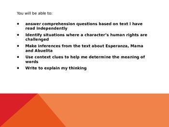 Esperanza Rising lesson 3
