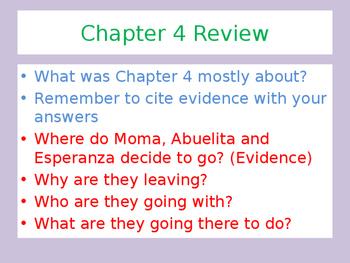 Esperanza Rising lesson 4