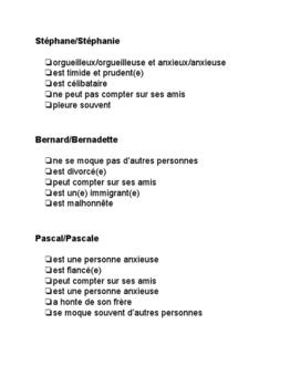 French Game - Espion - Spy - Devinez qui! Unité Ressentir et vivre
