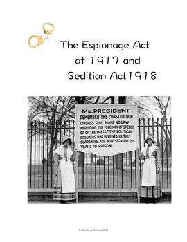 World War I Simulation : National Security v Bill of Rights