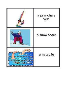 Esportes (Sports in Portuguese) Concentration games