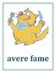 Espressioni con avere Italian Verb Posters